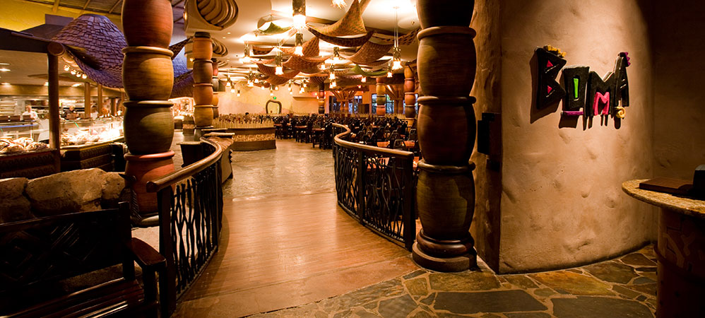 Reminiscent of an open African market, Boma has an expansive, inviting layout.