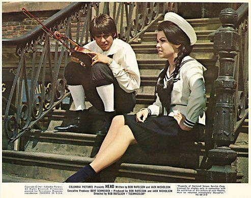 Annette and Davy Jones in the classic cult film 'Head'.