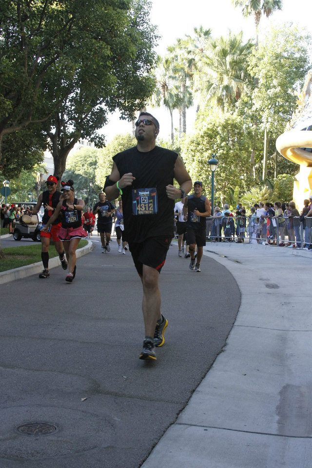 The final stretch of the 2012 Disneyland Half Marathon.
