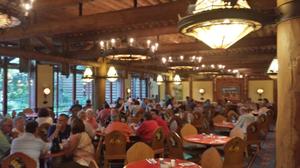 The interior of the Whispering Canyon Cafe.