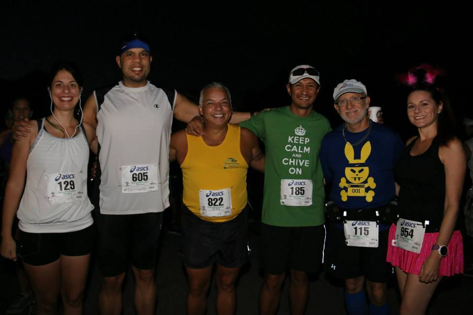 Katarina, me, Jose, Rich, Bruce, and Kristi before the race.