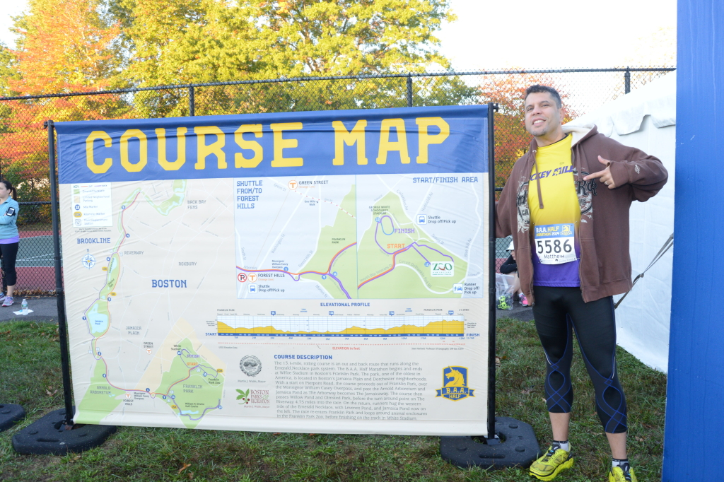 Posing with the Course Map because why not?