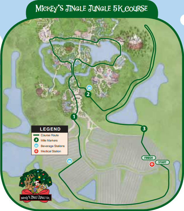 Course map courtesy of runDisney