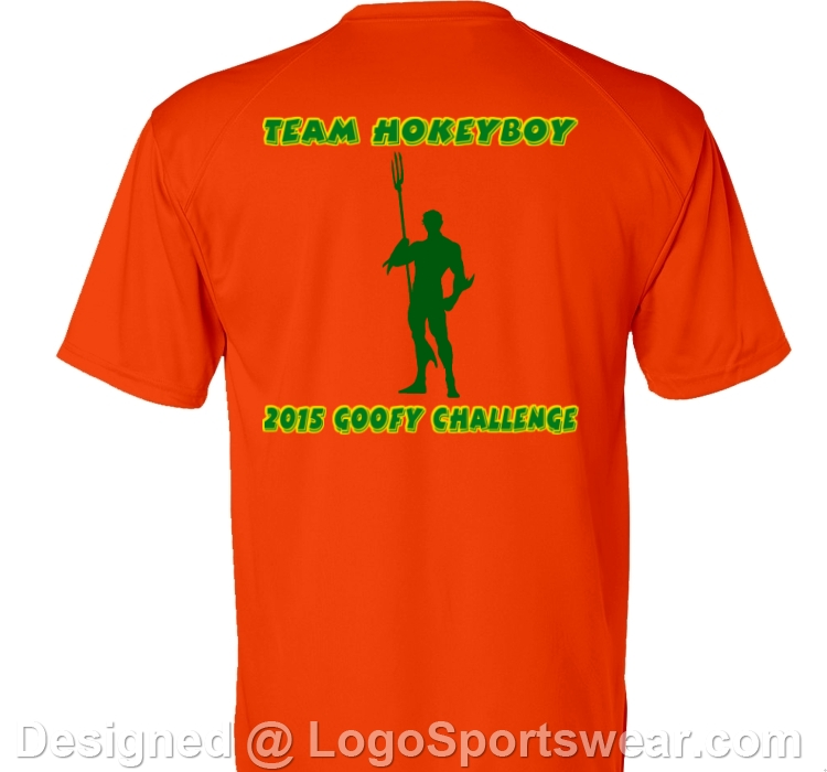 Half marathon logo, on back of shirt.