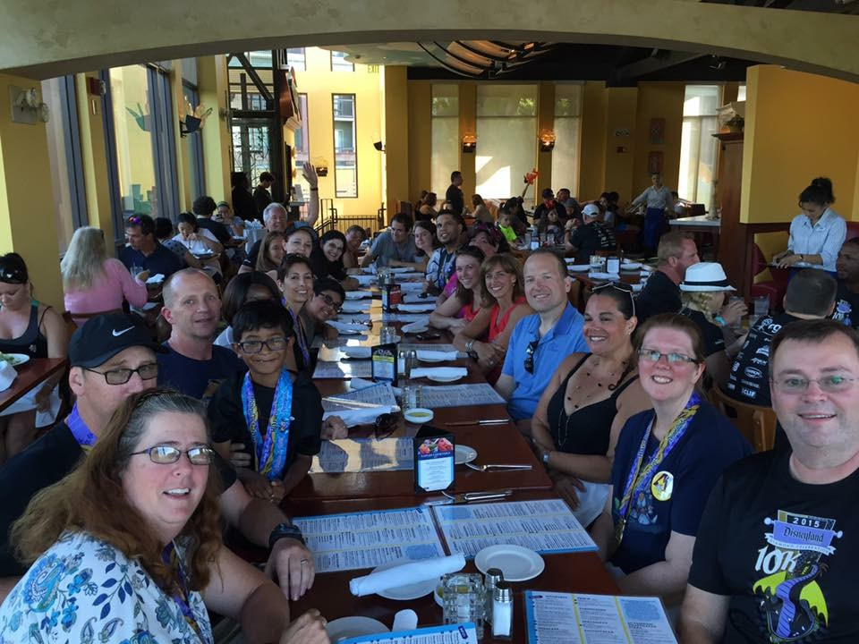 The Dinner Crew at Naples in Downtown Disney