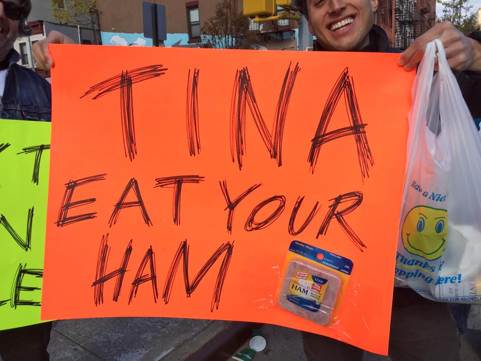 Tina, whoever and wherever you, I love your friends. And your ham obsession. This rules.